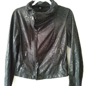 Black faux snake jacket